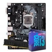 Kit Upgrade intel Corei3-8100 3.6Ghz, Placa Mãe  Asus H310M-D R2.0 LGA 1151,  8GB DDR4