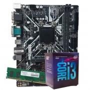Kit Upgrade intel Corei3-8100 3.6Ghz, Placa Mãe Pcware IPMH310G PRO LGA 1151,  8GB DDR4