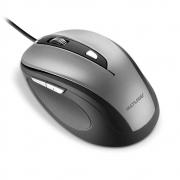 Mouse Multilaser, Com Fio, 1600Dpi, USB, 6 Botões, Cinza e Preto - MO242