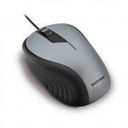 Mouse Óptico Multilaser Emborrachado Cinza e Preto - MO225