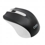 Mouse Sem Fio OEX Experience, Branco/Preto - MS404