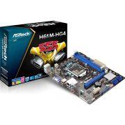 Placa Mãe ASRock H61M-HG4, Socket 1155, DDR3, com HDMI (S,V,R)