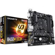 Placa Mãe Gigabyte B450M DS3H, AMD AM4, mATX, DDR4