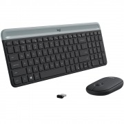 Teclado e Mouse Logitech MK470 Slim Ultrafino, Teclas Silenciosas, Plug And Play - 920-009268