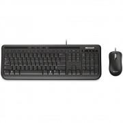 Teclado e Mouse Microsoft Wired Desktop 600 Multimídia Resistente à Água ABNT2 - 3J2-00006