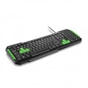 Teclado Gamer Multilaser, com Hotkeys Multimidia, USB, com Fio, Verde e Preto, ABNT2 - TC201