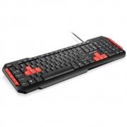 Teclado Gamer Multilaser, com Hotkeys Multimidia, USB, com Fio, Vermelho e Preto, ABNT2 - TC160