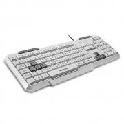 Teclado Gamer Multimidia Slim Multilaser, Teclas Gamer Destacadas, USB, com Fio, Branco, ABNT2 - TC267