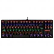 Teclado Mecânico Gamer Redragon Daksa Rainbow, Switch Blue Removíveis, ABNT, Black - K576R-1 PT-BLUE