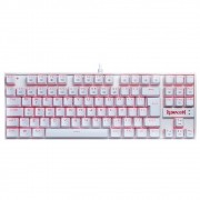 Teclado Mecânico Gamer Redragon Kumara K552W, LED, Switch Red, ABNT2, Branco - K552W-2 PT-RED