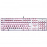 Teclado Mecânico Gamer Redragon Mitra Lunar K551W, Switch Blue, ABNT2, White