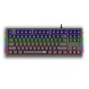 Teclado Mecânico T-Dagger Bali Rainbow Switch Red, Preto, ABNT2 - T-TGK311-RD PT-RAINBOW
