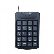 Teclado Numérico Multilaser, com Fio, USB - TC229