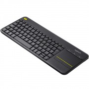 Teclado Sem Fio Logitech K400 Plus com Touchpad, Multimídia, Unifying, ABNT2, Cinza - 920-007125