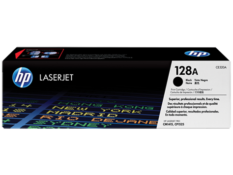 Toner HP 128A Preto Laserjet Original (CE320AB) Para CM1415fn, CM1415fnw, CP1525nw