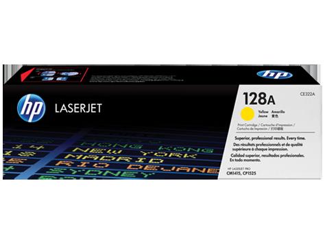 Toner HP 128A Amarelo Laserjet Original (CE322AB) Para CM1415fn, CM1415fnw, CP1525nw