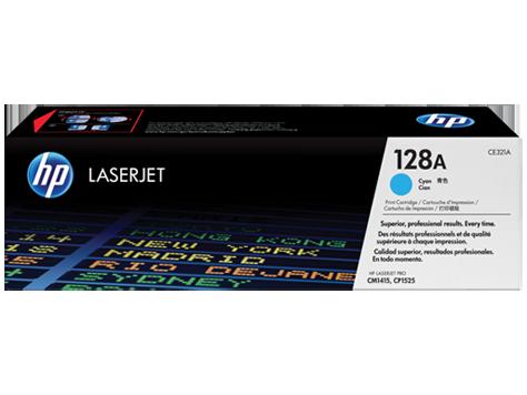 Toner HP 128A Ciano Laserjet Original (CE321AB) Para CM1415fn, CM1415fnw, CP1525nw