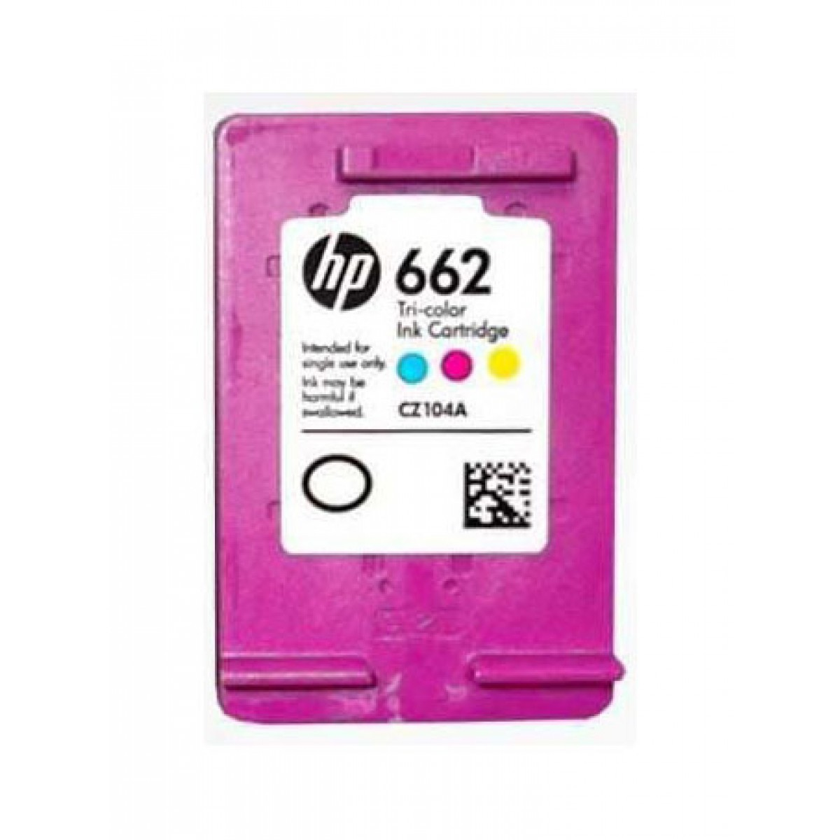 Cartucho HP 662 Colorido Original (CZ104AB) Para HP DeskJet 2516, 3516, 3546, 2546, 1516, 4646, 2646