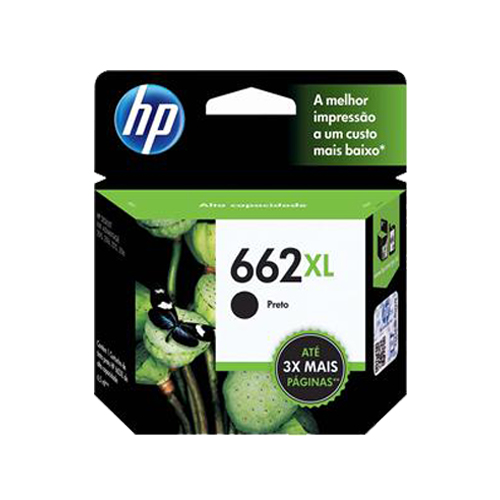Cartucho HP 662XL preto Original (CZ105AB) Para HP DeskJet 2516, 3516, 3546, 2546, 1516, 4646, 2646CX 1 UN