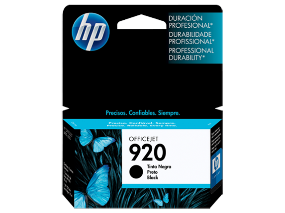 Cartucho HP 920 Preto Original (CD971AL) Para HP Officejet 7500A, 6000dwn, 6500A