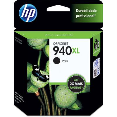 Cartucho HP 940XL preto Original (C4906AB) Para HP Officejet Pro 8500, 8000dwn, 8000dn, 8500A, Enterprise 8000