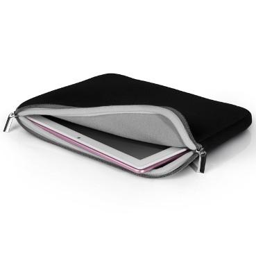 """Case Neoprene para Tablet e Notebook, Ate 10"""" polegadas, Preto e Cinza - BO206"""