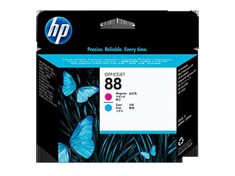 Cabeça de Impressão HP 88 Magenta e Ciano - C9382A