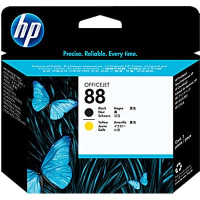 Cabeça de Impressão HP 88 Preto e Amarelo - C9381A