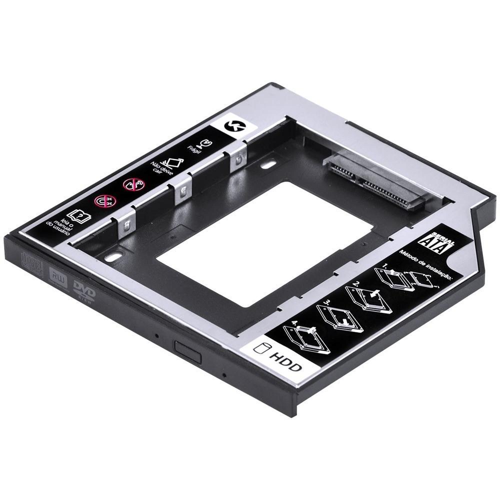 Adaptador Vinik Caddy para HD ou SSD, Leitor de DVD/CD Notebook - AC-95