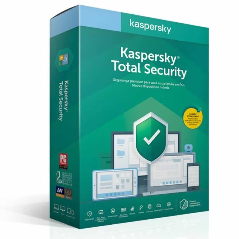Antivírus Kaspersky Internet Security, 05 Dispositivos, 02 Contas - KL1949K5EFS-20