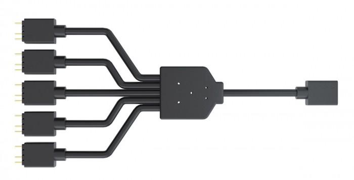 Cabo Divisor Cooler Master ARGB 1-to-5 Splitter Cable, 3-Pin LED Connector, 58 cm, MFX-AWHN-1NNN5-R1