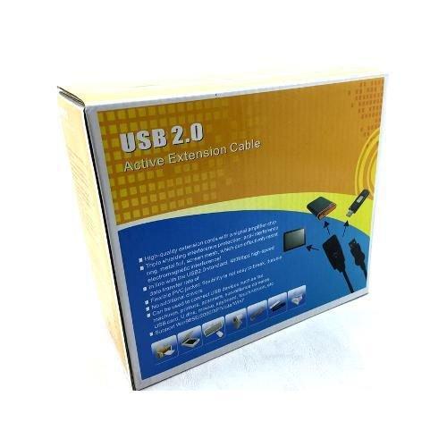 Cabo Extensor USB 2.0, 15 Metros, com repetidor de sinal