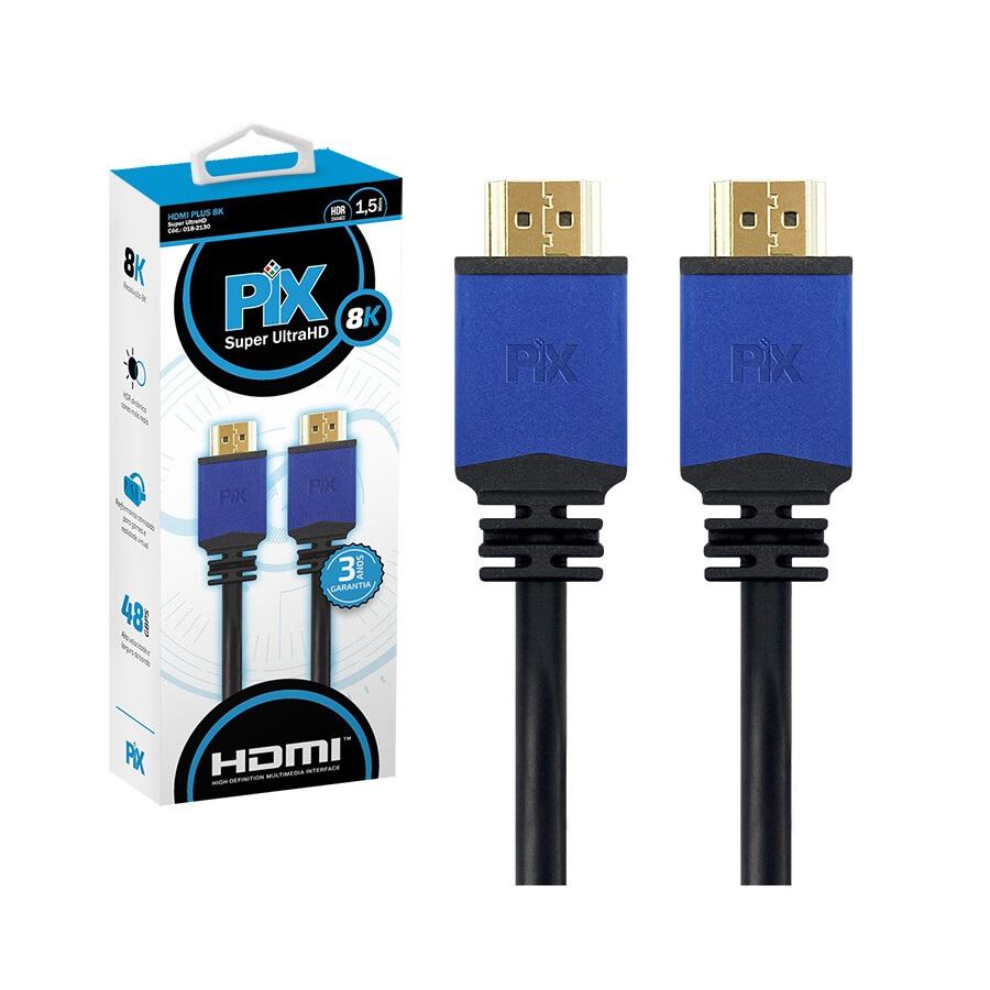 Cabo PIX HDMI Plus 2.1, 8K, HDR, 19 Pinos, 1.5 Metros - 018-2130