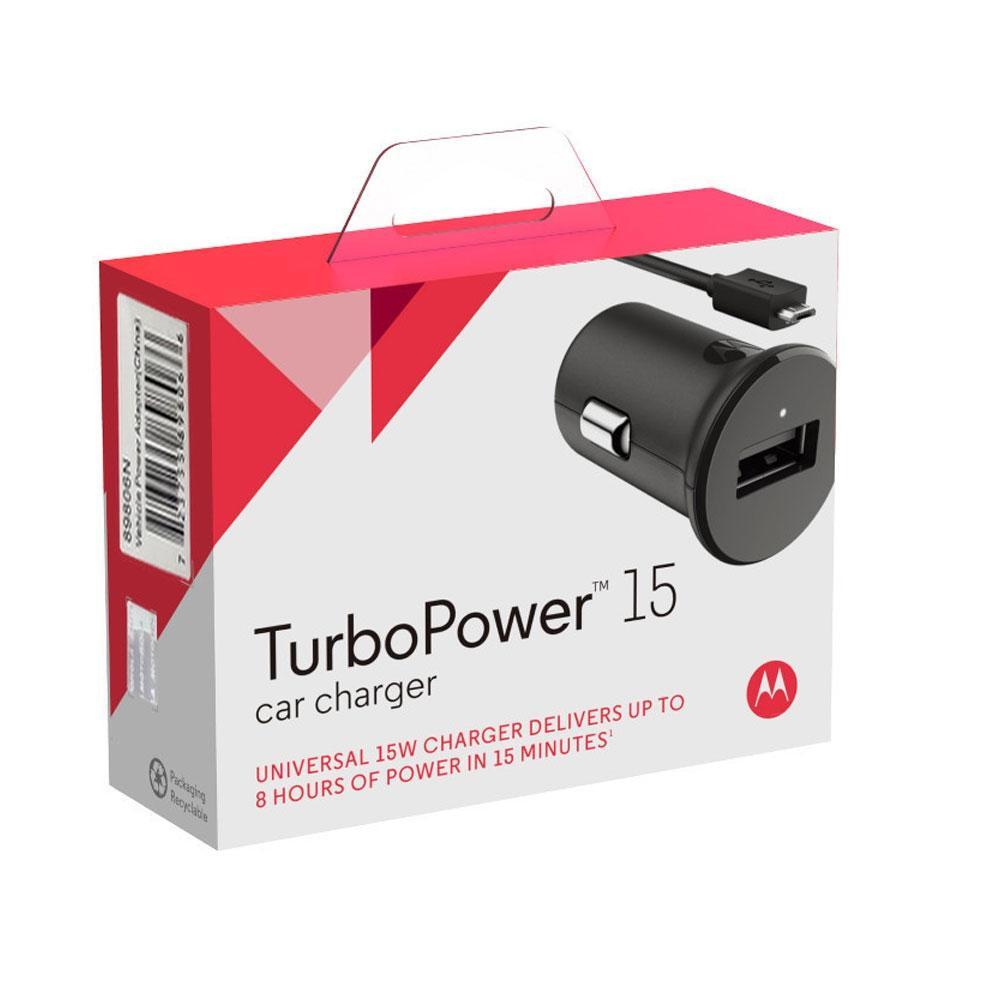 Carregador Veicular Motorola, Turbo Power 15W, Preto - 89806N
