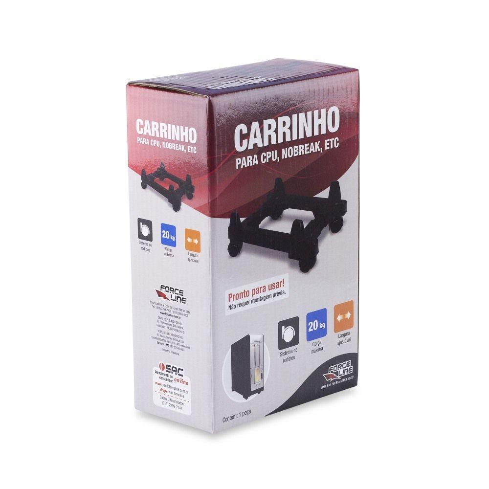 Carrinho Suporte CPU NoBreak Rodinhas Force Line