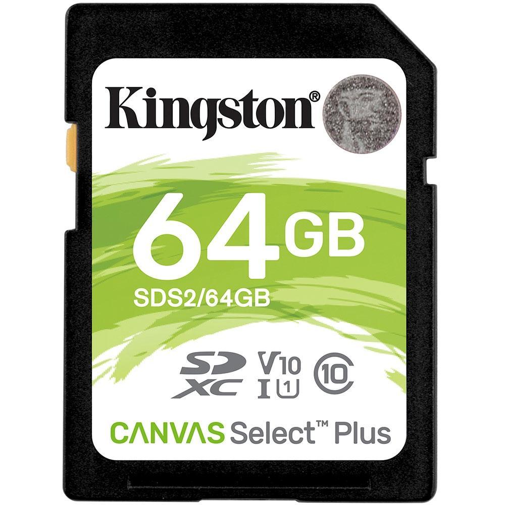 Cartão de Memória Kingston Canvas Select Plus SD Card 64GB Classe 10 - SDS2/64GB