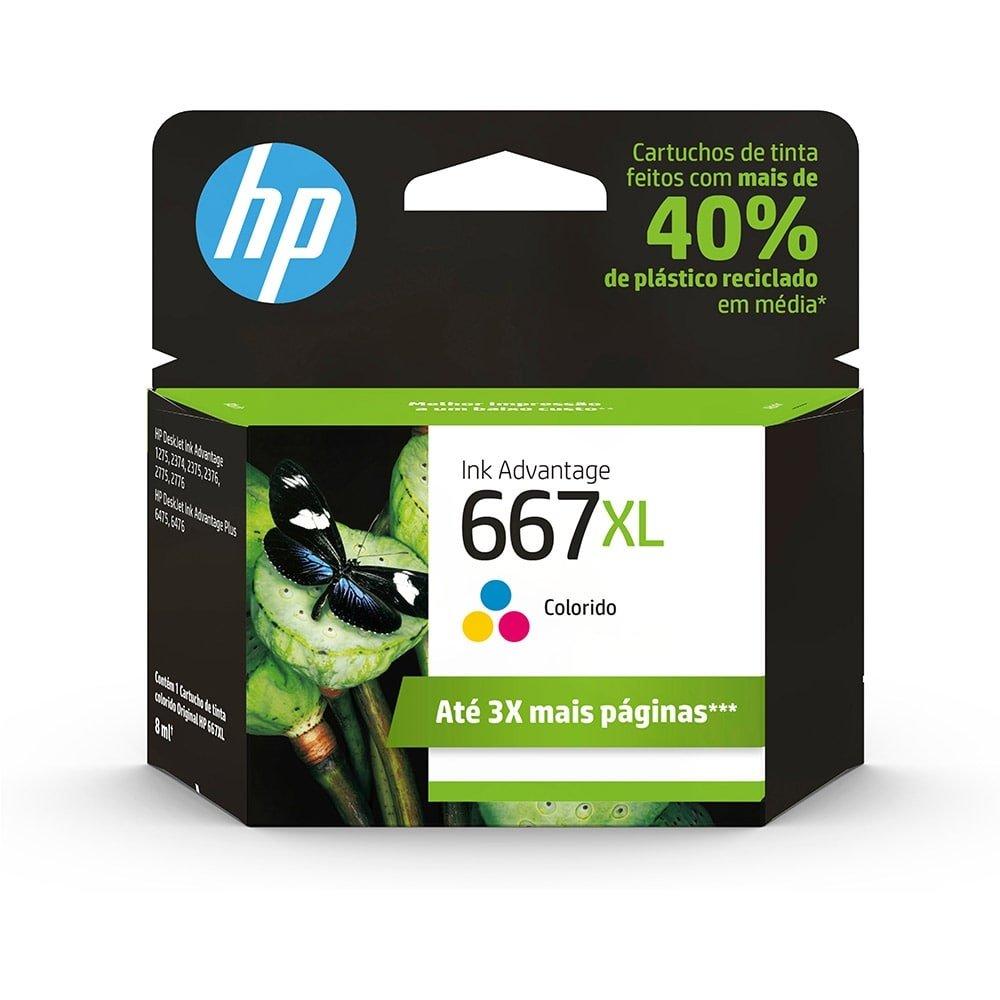 Cartucho HP 667XL colorido 3YM80AB