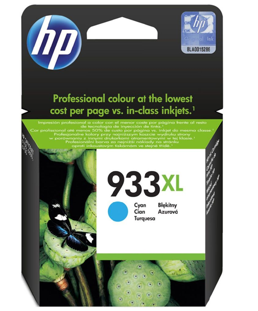 Cartucho HP 933XL Ciano / azul Original (CN054AL) Para HP Officejet 7110