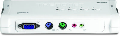 Chaveador Kvm Trendnet 4 Portas Ps2 Tk-408k Com Audio Cabos