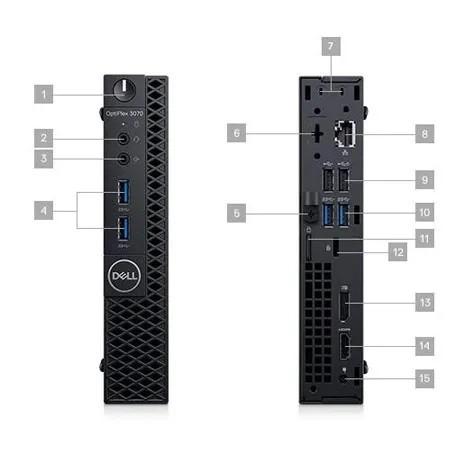 Computador Dell Optiplex 3070 Micro, Intel Core i3-9100, 4GB DDR4, HD 1TB, Windows 10 Pro