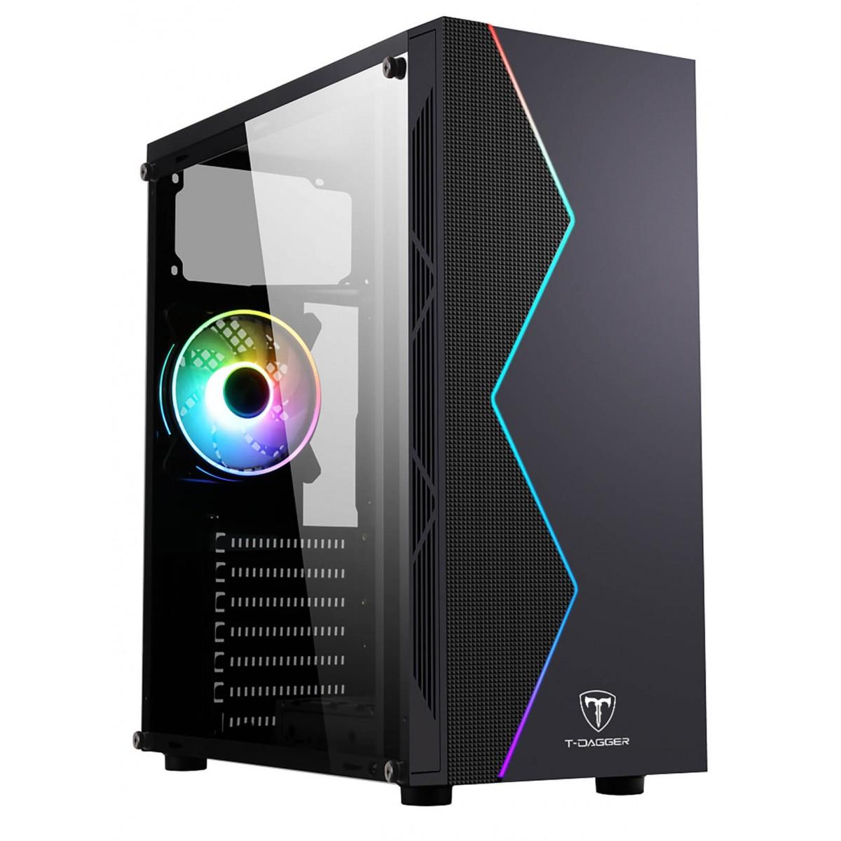 Computador Gamer, Intel 10º geração Core i3-10100F, Placa de Vídeo RX 550 4GB, 8GB DDR4, SSD 256GB