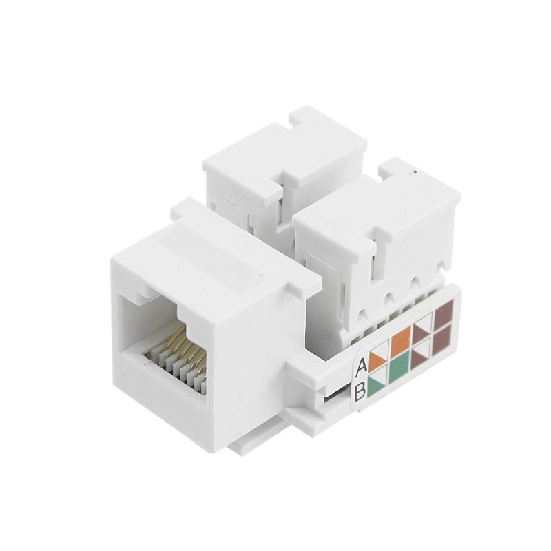 Conector Keystone 5+, RJ45, Cat5e, Fêmea, Branco - 062-9705