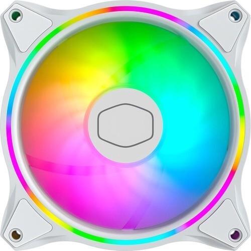 Cooler Para Gabinete Cooler Master MF120 Halo White Edition, ARGB Loop Duplo, 120mm, MFL-B2DW-18NPA-R1