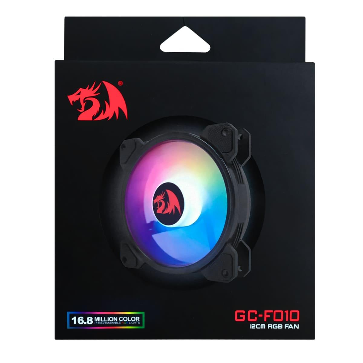 Cooler para gabinete Redragon, RGB, 120mm, F010