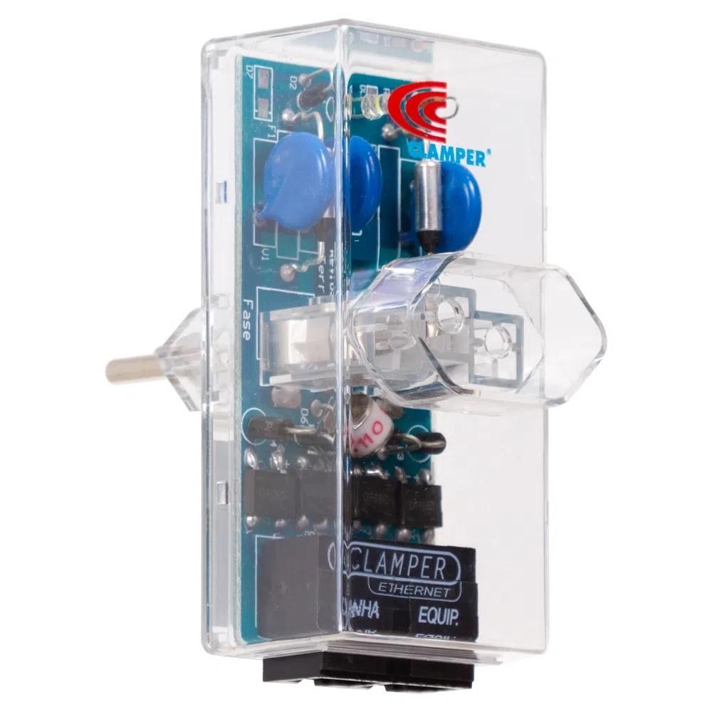 DPS iCLAMPER Energia + Ethernet POE 3P 10A Bivolt Transparente CLAMPER