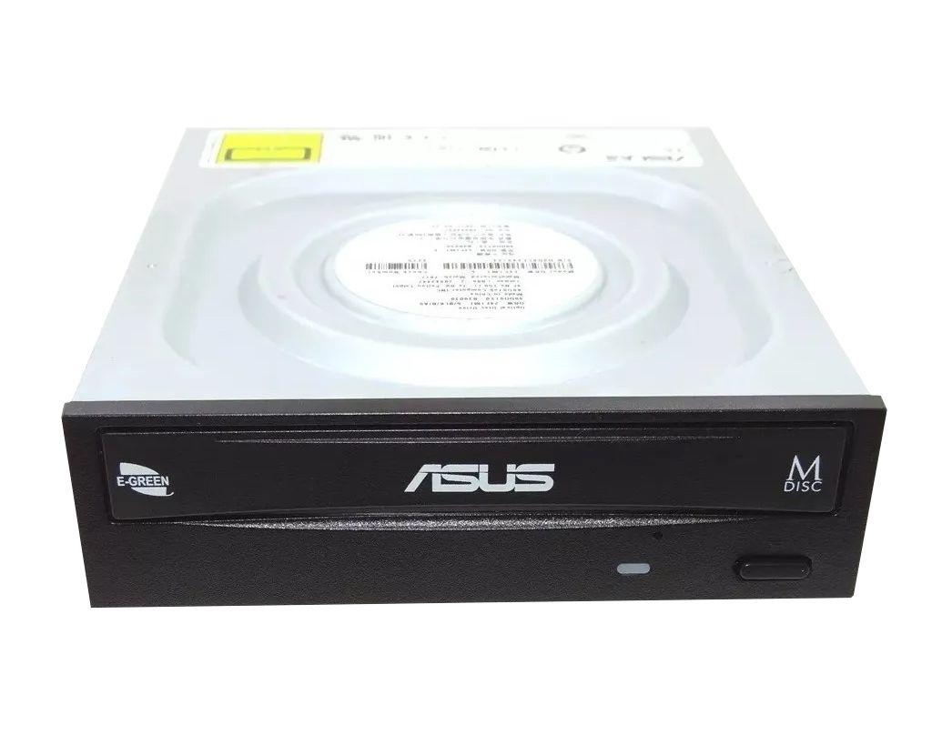 Drive ASUS Gravador e Leitor de CD/DVD, SATA, 24X, Preto - DRW-24F1MT/BLK/B/AS