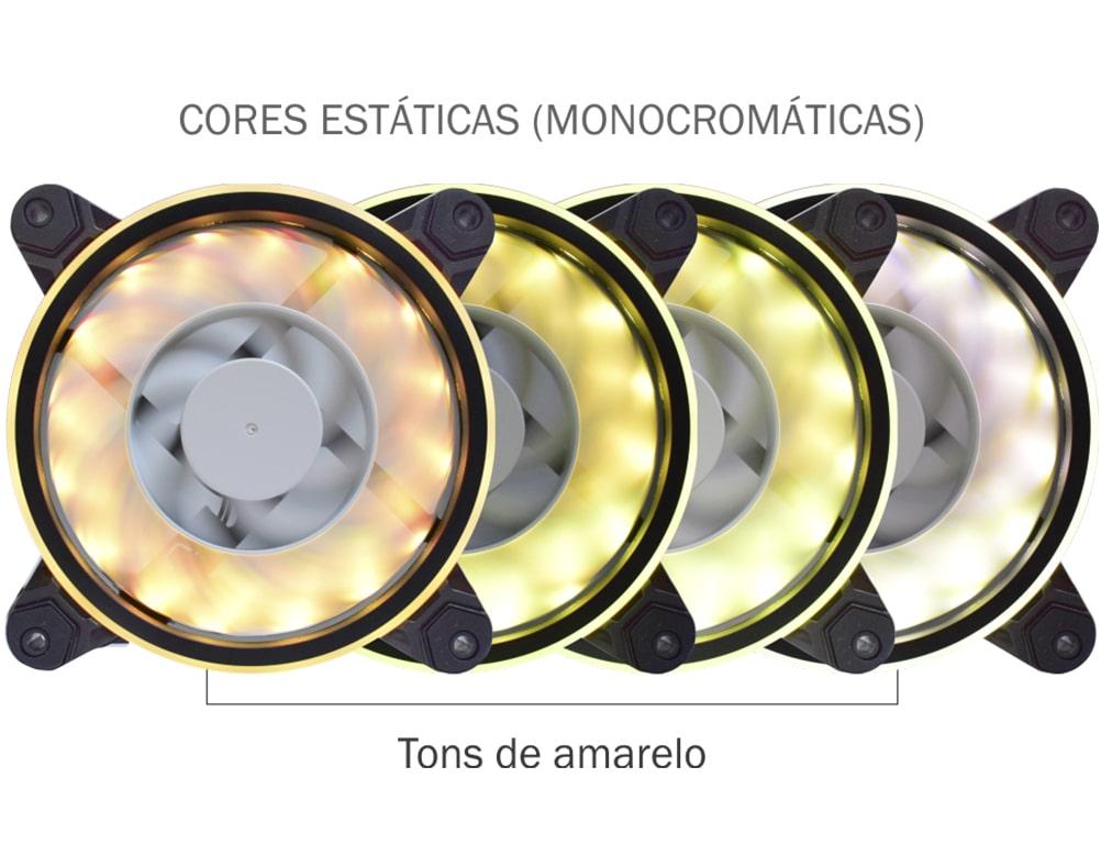 Fan Cooler Gaming Master RGB Rainbow Slim Ring - AF-Y1225