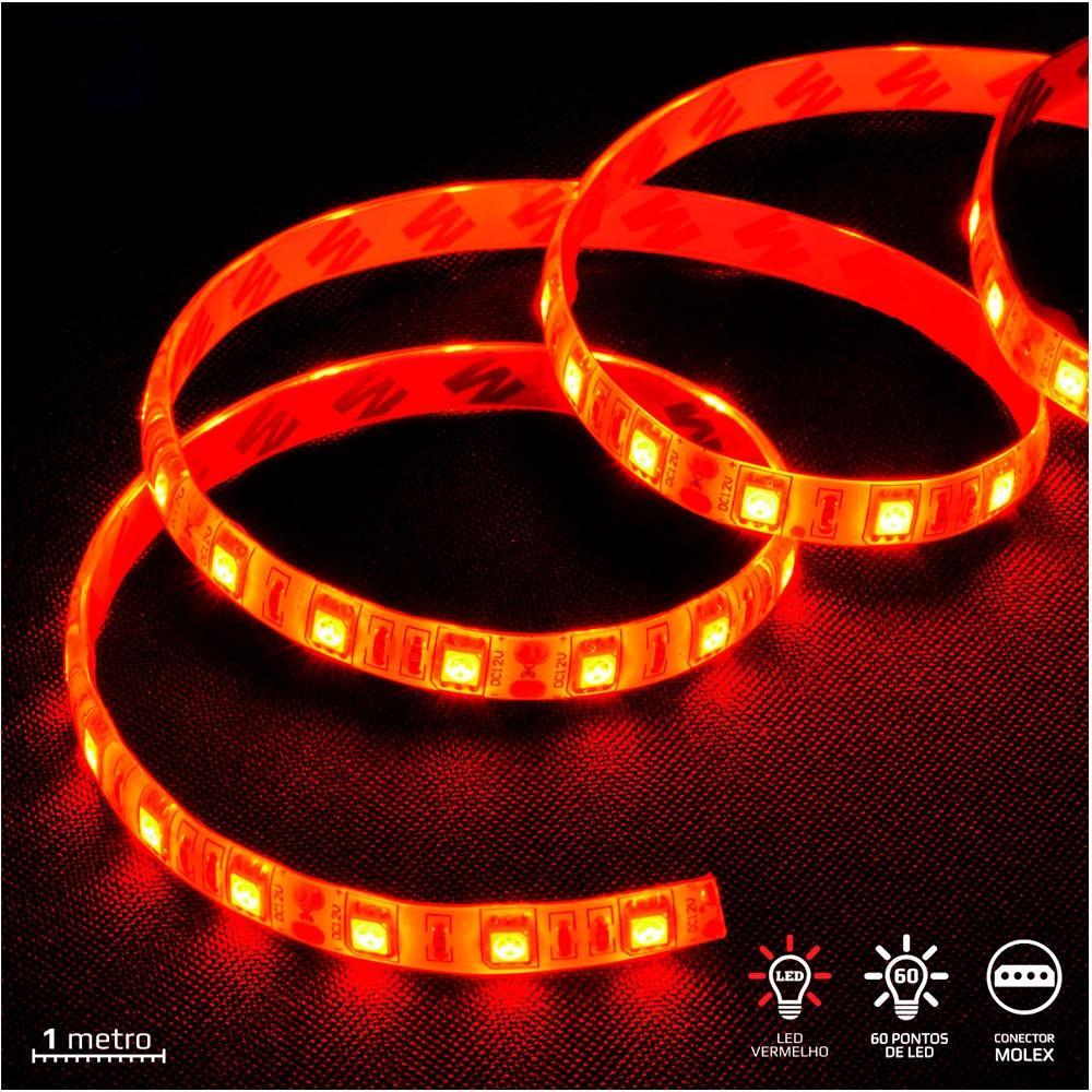 Fita de LED Vinik VX Gaming, LED Vermelho, 1m - LVM1 (31392)