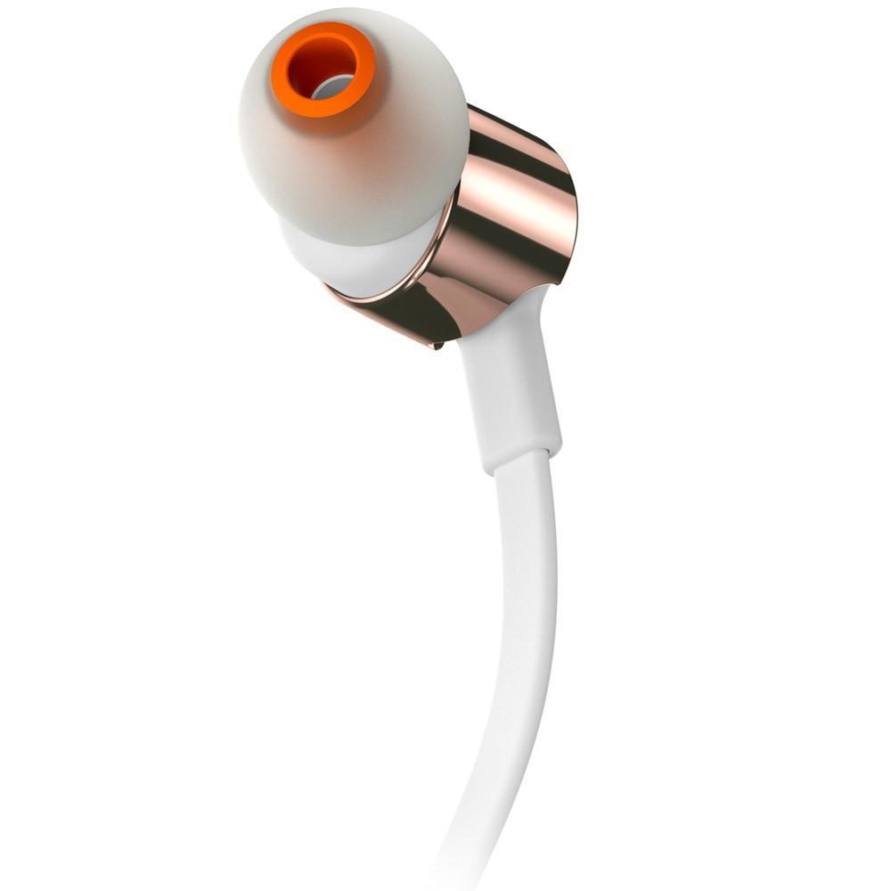 Fone de Ouvido Intra Auricular JBL T210 Branco e Rosê Gold - JBLT210RGD