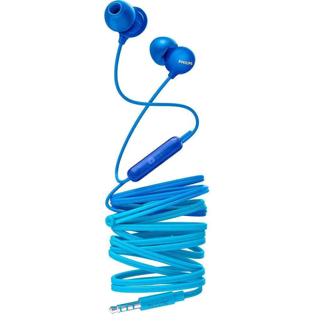 Fone de Ouvido Philips, com Microfone, Azul - SHE2405BL/00